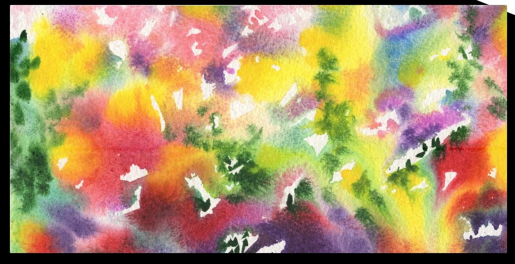 Bright And Gorgeous Abstract Splash Of Watercolor Decor by Irina Sztukowski