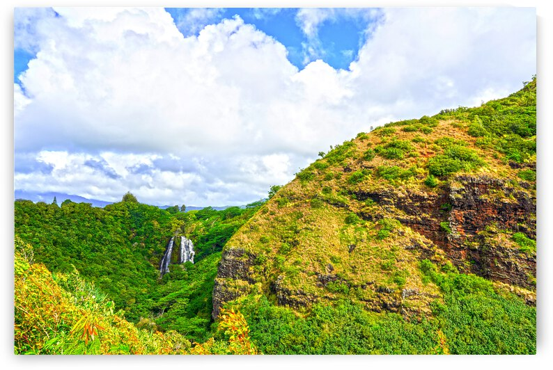 The Falls at the Mountain Overlook on Kauai - Waterfall Hawaii by 24