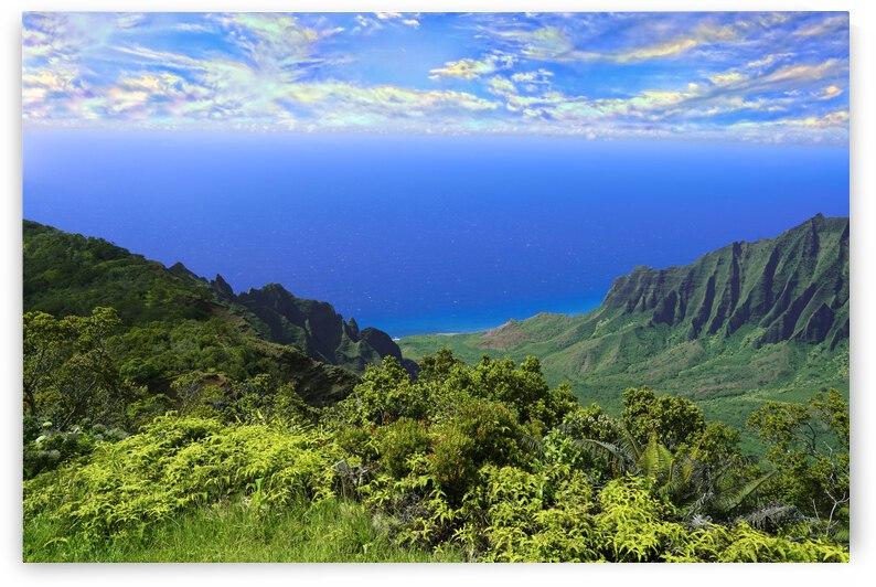 Sunset at Puu O Kila Lookout Kohala Mountains on the Island of Kauai in Hawaii 1 of 2 by 1North