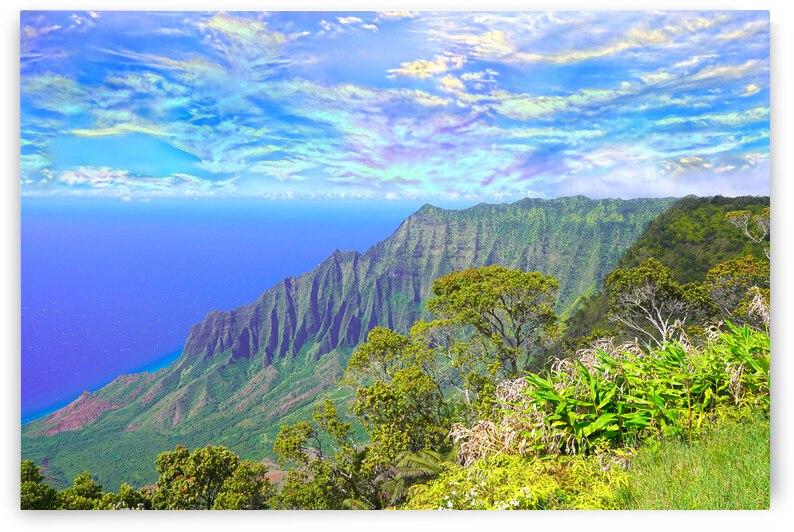 Sunset at Puu O Kila Lookout Kohala Mountains on the Island of Kauai in Hawaii 2 of 2 by 1North