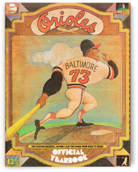 1973 Baltimore Orioles Yearbook Poster by Row One Brand