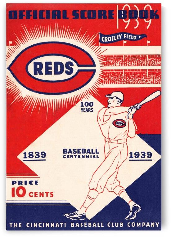 1939 Cincinnati Reds Score Book Art by Row One Brand
