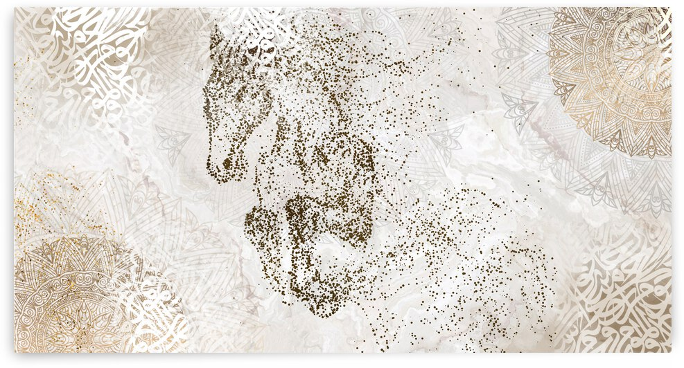 calligraphy horse  by AHMED MOHAMED ABDULLA