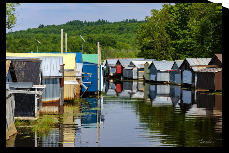 Hangars    bateaux - Boathouses by Pierre Cavale