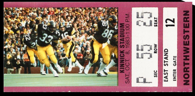1983 Northwestern Wildcats vs. Iowa Hawkeyes by Row One Brand