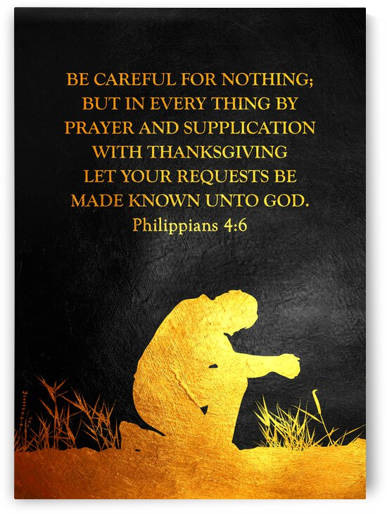 Philippians 4:6 Bible Verse Wall Art by ABConcepts