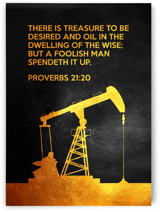 Proverbs 21:20 Bible Verse Wall Art by ABConcepts