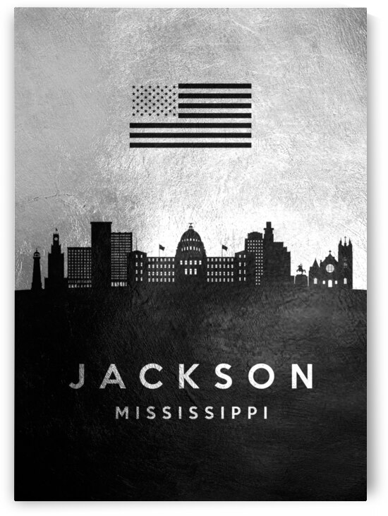 jackson mississippi silver skyline 2 by ABConcepts