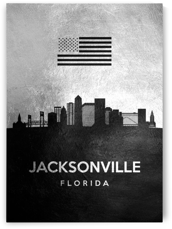 jacksonville florida silver skyline 2 by ABConcepts
