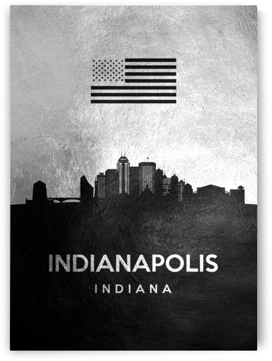indianapolis indiana silver skyline 2 by ABConcepts