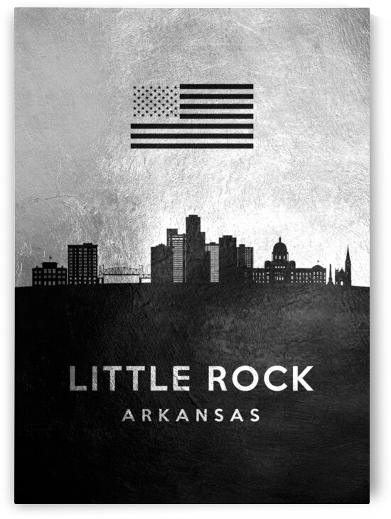 little rock arkansas silver skyline 2 by ABConcepts