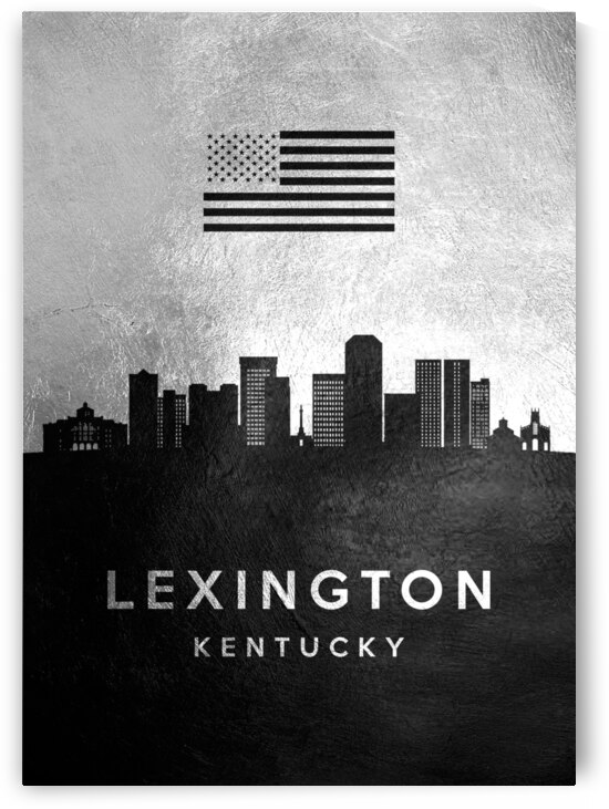 lexington kentucky silver skyline 2 by ABConcepts