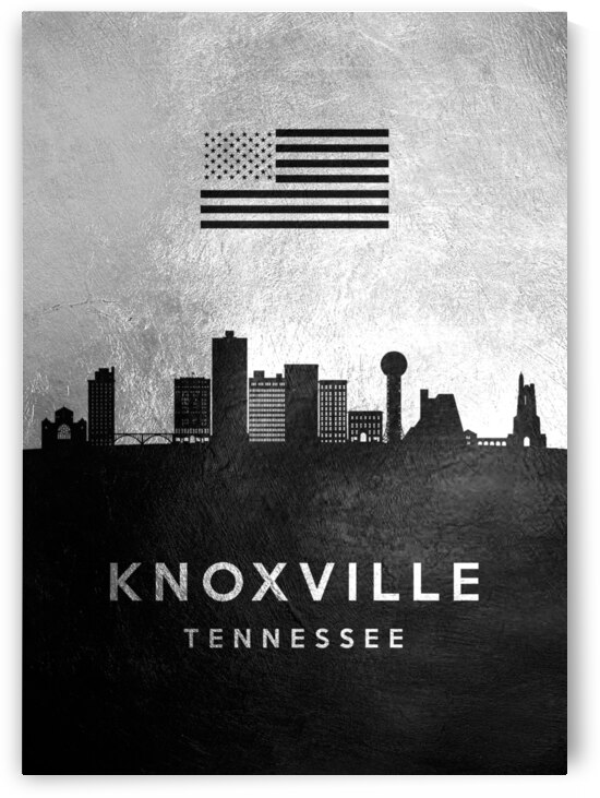knoxville tennessee silver skyline 2 by ABConcepts