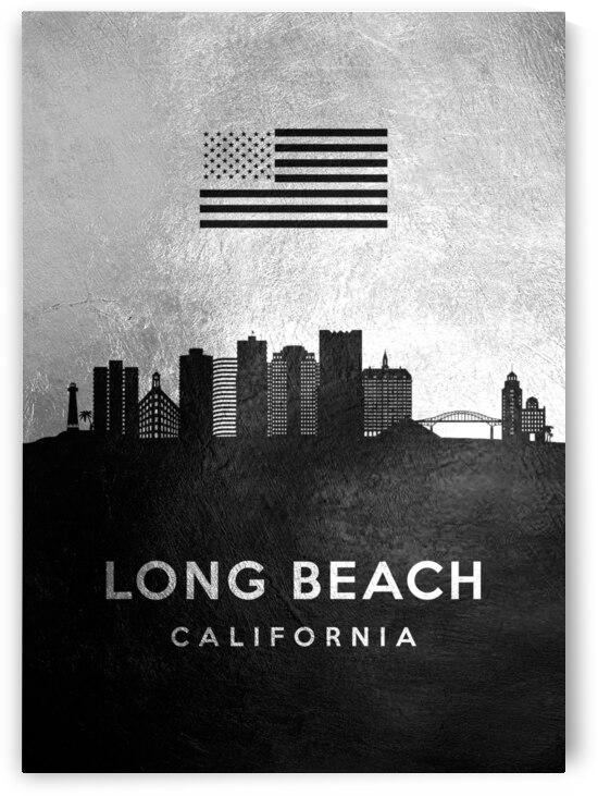long beach california silver skyline 2 by ABConcepts