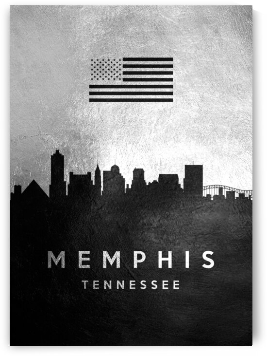 memphis tennessee silver skyline 4 by ABConcepts