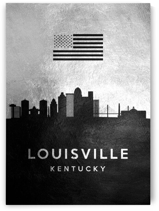 louisville kentucky silver skyline 2 by ABConcepts
