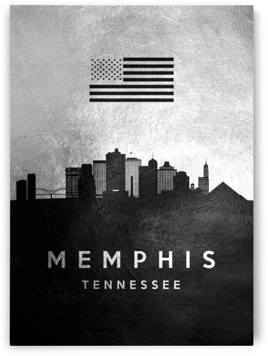 memphis tennessee silver skyline 3 by ABConcepts