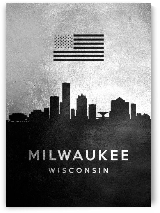 milwaukee wisconsin silver skyline 4 by ABConcepts