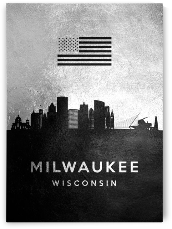 milwaukee wisconsin silver skyline 3 by ABConcepts