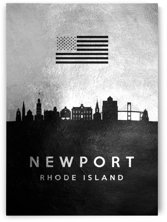 newport rhode island silver skyline 2 by ABConcepts