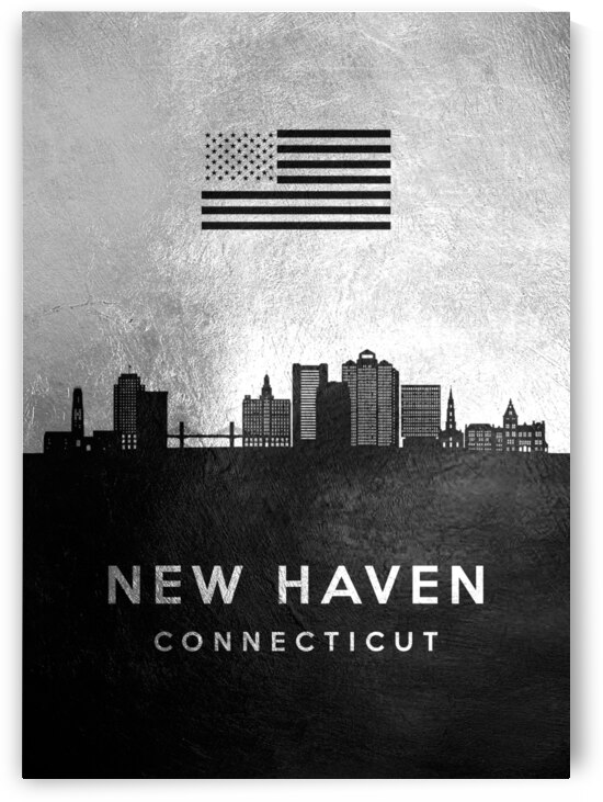 new haven connecticut silver skyline 2 by ABConcepts