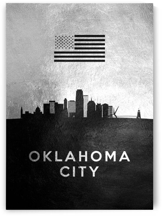 oklahoma city silver skyline 2 by ABConcepts