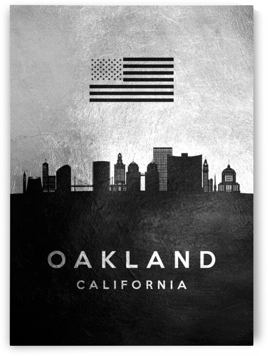 oakland california silver skyline 2 by ABConcepts