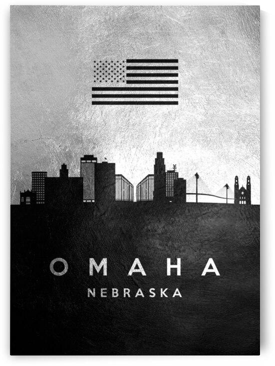 omaha nebraska silver skyline 2 by ABConcepts