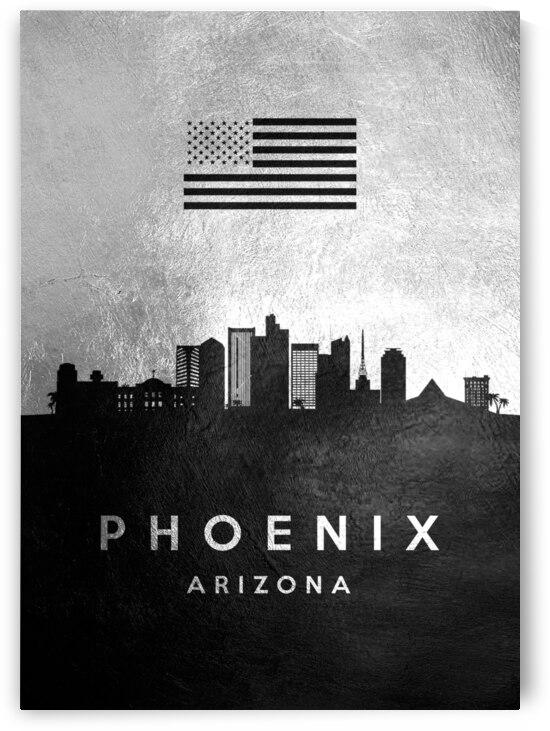 phoenix arizona silver skyline 2 by ABConcepts