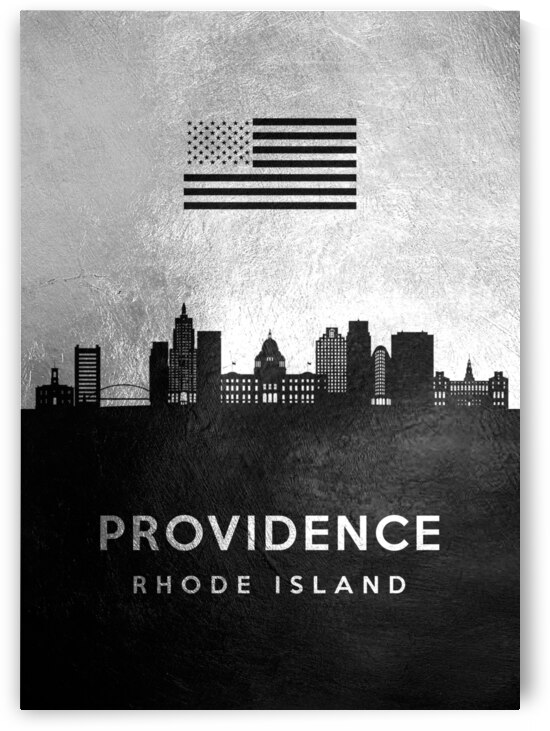 providence rhode island silver skyline 2 by ABConcepts