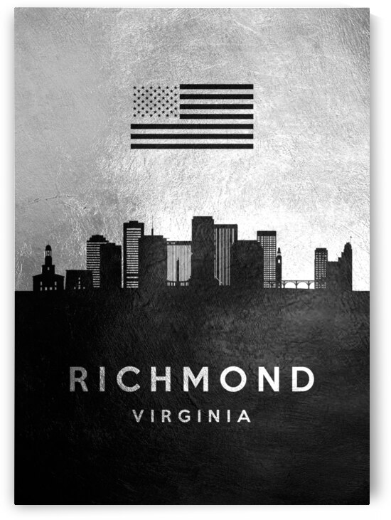 richmond virginia silver skyline 2 by ABConcepts