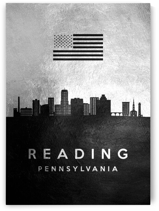 reading pennsylvania silver skyline 2 by ABConcepts