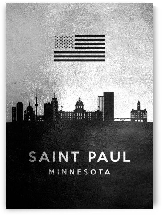saint paul minnesota silver skyline 2 by ABConcepts