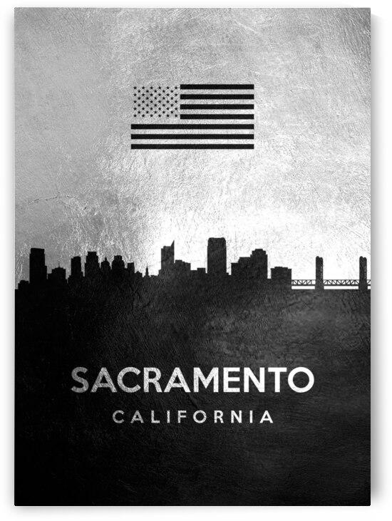sacramento california silver skyline 4 by ABConcepts