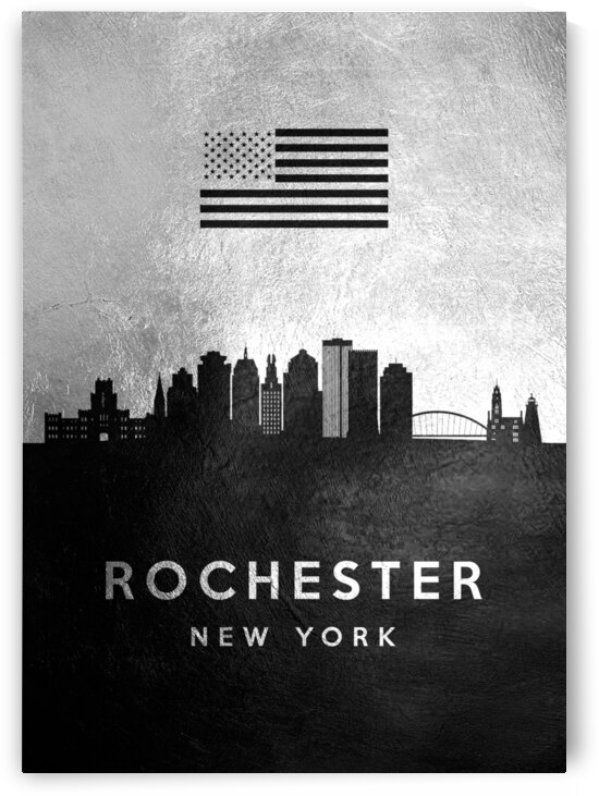 rochester new york silver skyline 2 by ABConcepts