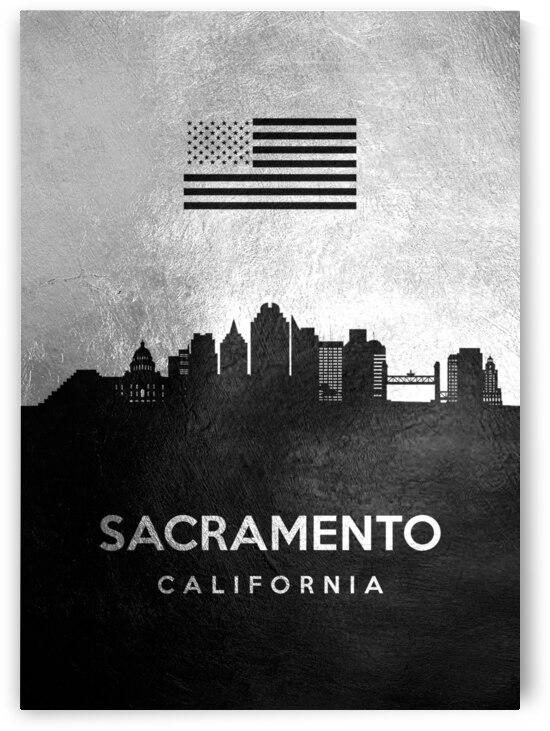 sacramento california silver skyline 3 by ABConcepts