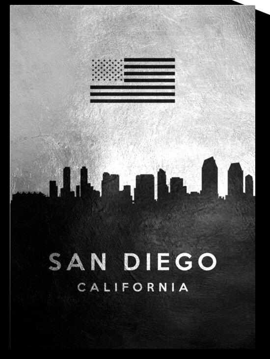 san diego california silver skyline 4 by ABConcepts