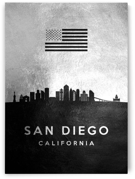 san diego california silver skyline 3 by ABConcepts