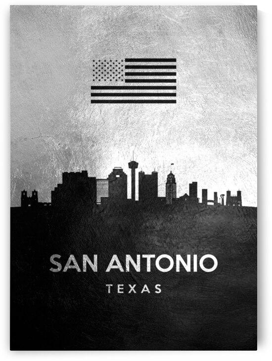 san antonio texas silver skyline 4 by ABConcepts