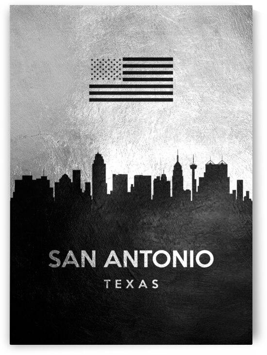 san antonio texas silver skyline 3 by ABConcepts
