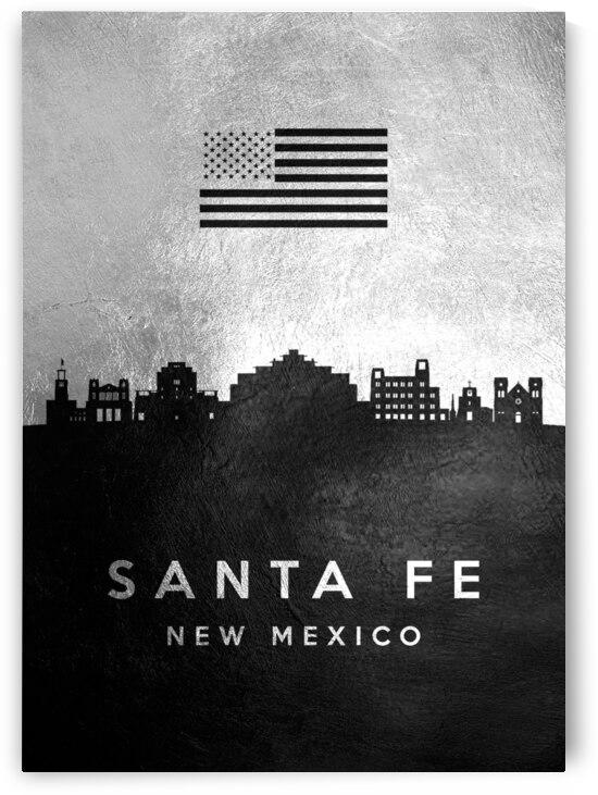 santa fe new mexico silver skyline 2 by ABConcepts