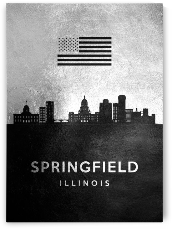 springfield illinois silver skyline 2 by ABConcepts