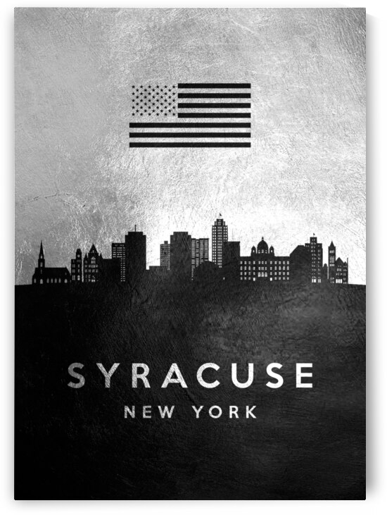 syracuse new york silver skyline 2 by ABConcepts