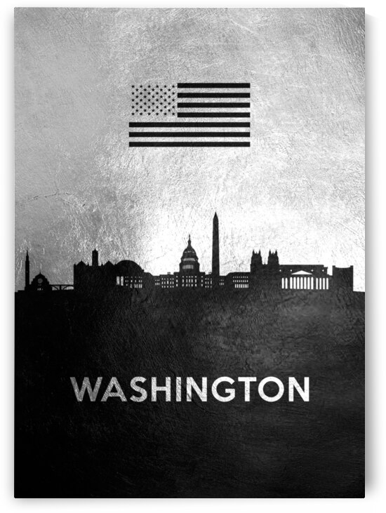 washington silver skyline 2 by ABConcepts
