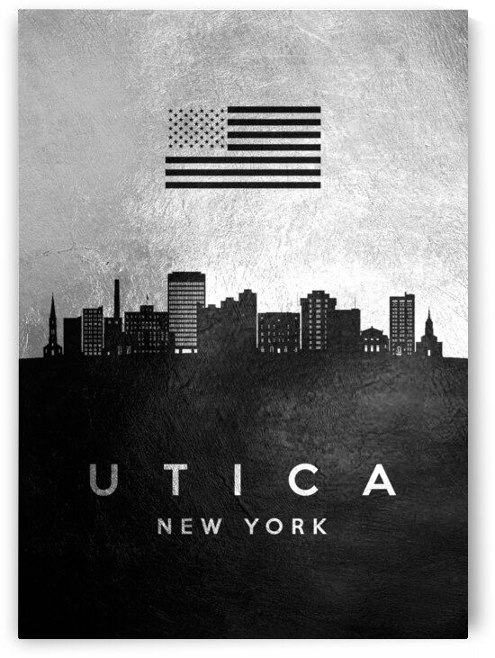 utica new york silver skyline 2 by ABConcepts
