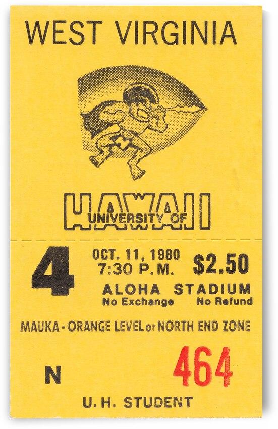 1980 West Virginia vs. Hawaii by Row One Brand