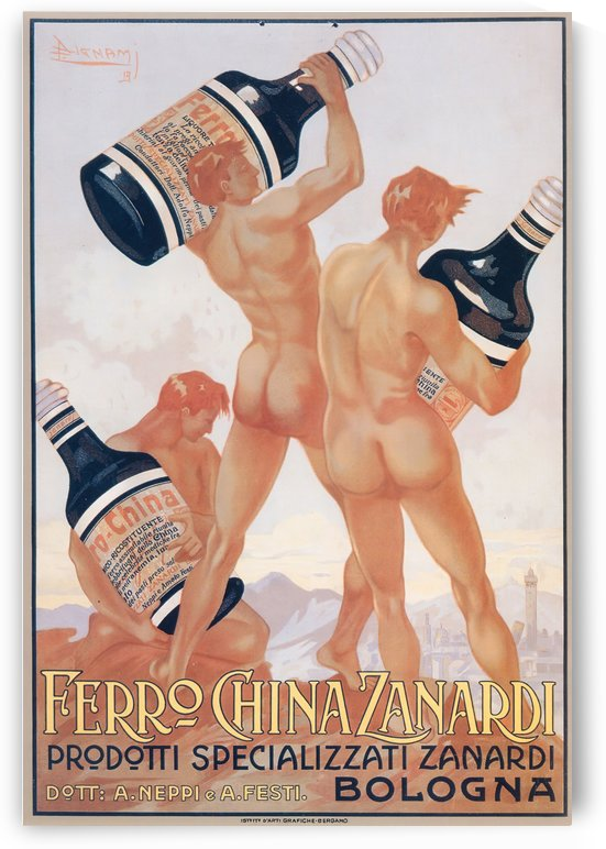 Ferro China Zanardi Poster by VINTAGE POSTER