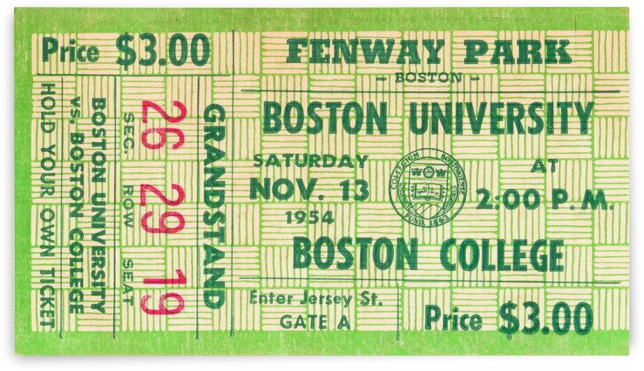 1954 Boston College vs. Boston University by Row One Brand