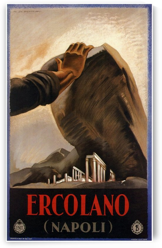 1928 Ercolano Napoli Poster by VINTAGE POSTER