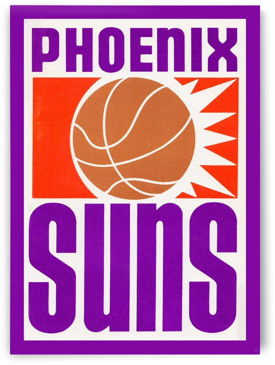 1970 Phoenix Suns Basketball Art by Row One Brand